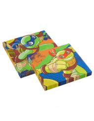 Set aus 20 Papierservietten der Ninja Turtles™
