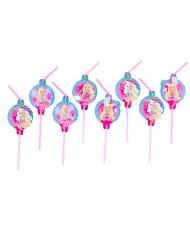 8 Strohhalme Barbie Dreamtopia