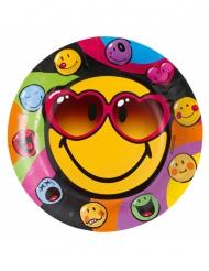 Smiley World™ -Pappteller Tischzubehör 8 Stück bunt 23cm