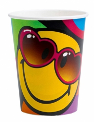 8 Smiley World Pappbecher 260 ml