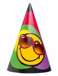 6 Partyhüte Smiley World