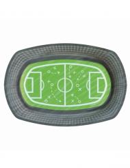 Fußball-Pappteller Tischdekoration 6 Stück bunt 24 x 16 cm