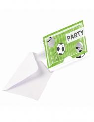 Fußball Briefumschläge und Einladungskarten 16-teilig grün-weiss