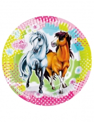 8 Pappteller  Charming Horses