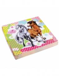20 Servietten Charming Horses