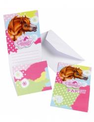 6 Charming Horses Einladungskarten mit Umschlag