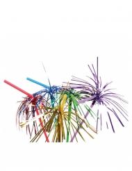 10 bunte Feuerwerks Strohhalme