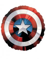 Folienballon Captain America™-Schild Avengers Raumdeko rot-weiss-blau 71cm