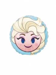 Emoji-Ballon aus Alluminium mit Prinzessin Elsa 23 cm