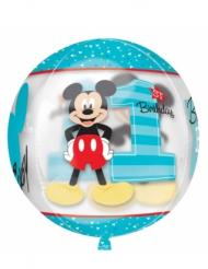 Mickey Aluminium Luftballon 1. Geburtstag rund