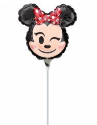Kleiner Alu-Ballon mit Minnie Emoji 22 x 22 cm