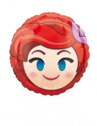 Kleiner Arielle Emoji Ballon aus Aluminium 23 cm