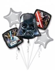 Ballon-Strauß mit 5 Star Wars Aluminium-Ballons