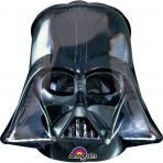 Darth Vader™- Aluminium Ballon Star Wars™-Lizenzartikel schwarz 25 x 27 cm