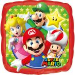 Super Mario™-Folienballon Lizenzartikel bunt 23x23cm