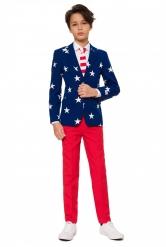 Mr. USA-Opposuits Anzug für Teenager blau-weiss-rot