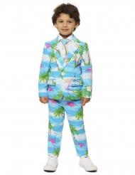 Mr. Flamingo-Opposuits™ für Kinder türkis-weiss-rosa