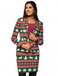 Weihnachtsfrau Opposuits™-Anzug Damenkostüm grün-rot-weiss