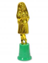 Hawaii-Statuette mit Hula-Mädchen 20 cm