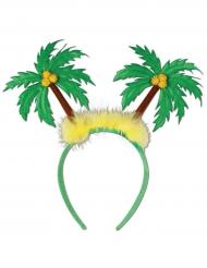 Palmen-Haarreif Kopfbedeckung tropisch grün-gelb-braun