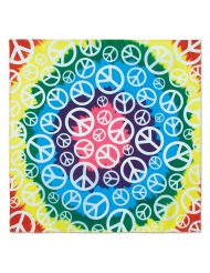 Hippie Kopftuch Peace and Love bunt 55x55 cm