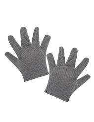 Mittelalter Handschuhe für Erwachsene silber