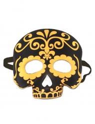 Totenkopf Maske gelb schwarz