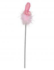 Frivoler Penis-Zauberstab silber-rosa