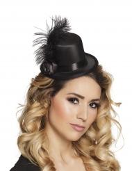 Mini-Zylinder im 20er-Jahre Stil glamouröse Kopfbedeckung schwarz