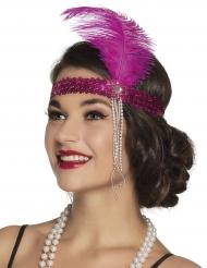 20er-Jahre Pailletten-Kopfband Charleston pink