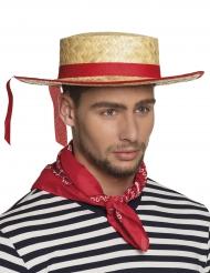 Traditioneller Gondoliere-Hut für Herren beigefarben-rot