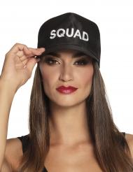 Squad-Schildmütze für Erwachsene Kostümzubehör schwarz-weiss