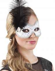 Venezianische Maske silber Kostüm-Accessoire