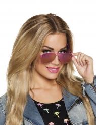 Stylische Pilotenbrille für Damen pink