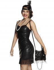 Charleston-Tasche 20er-Jahre Accessoire schwarz 20x18cm