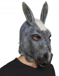 Esel-Maske Kostüm-Zubehör für Fasching Tiermaske grau