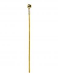 Gehstock mit Diamanten Kostümzubehör gold 92cm