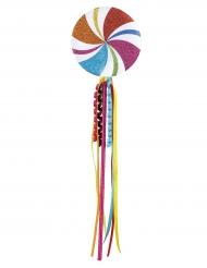 Geschmückter Lollipop Kostüm-Accessoire für Clowns bunt 45 cm