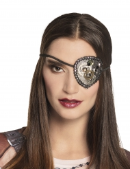 Steampunk-Augenklappe Kostüm-Accessoire schwarz-gold