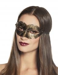 Schimmernde Steampunk-Maske Kostümzubehör gold