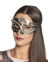Steampunk-Damenmaske viktorianisches-Kostümzubehör gold