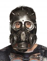 Steampunk-Maske Gasmaske schwarz-braun