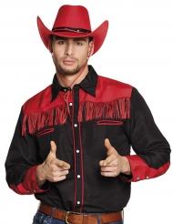Westernhemd für Herren Cowboy schwarz-rot
