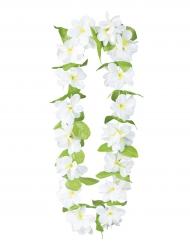 Hawaii-Kette Blumen weiss grün Deluxe