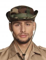 Soldaten-Hut Militär-Kopfbedeckung grün-braun