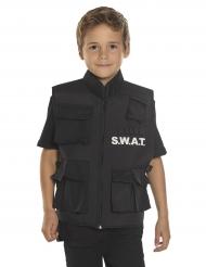 SWAT-Weste für Kinder Polizei-Kostümzubehör schwarz