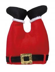 Lustige Weihnachtsmann-Mütze Kopfbedeckung rot-schwarz-weiss