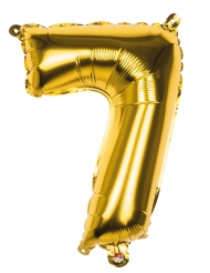 Aluminium-Folienballon Zahl 7 Raumdekoration gold 36cm