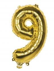 Alu Ballon Ziffer 9 gold