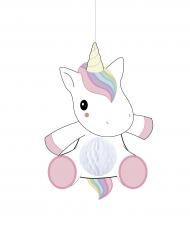 Einhorn Raumdekoration für Babys und Kleinkinder weiss-rosa 25cm